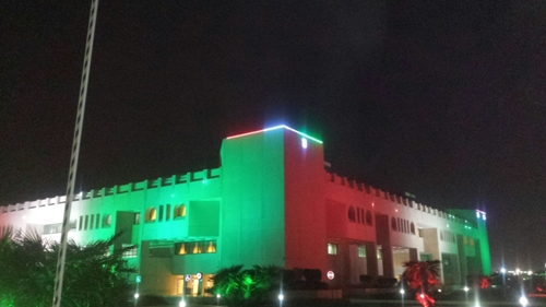 Architectural lighting  for Public Authority for Housing Care  building